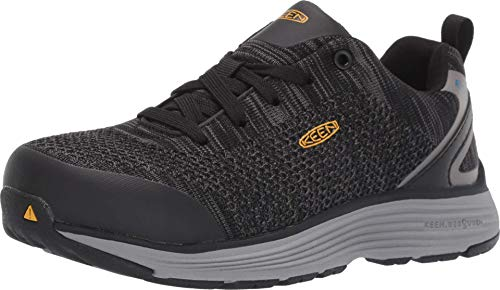 KEEN Utility Women's Sparta ESD Industrial Shoe, Black/Grey Flannel, 8 M US, 8M