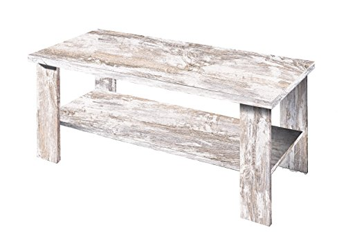 OVERHOME365 3575 V - Mesa centro, madera, color vintage, 100x50x42 ...