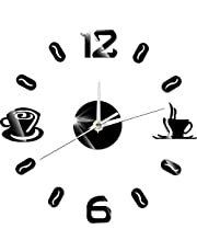 Wall Clocks Digital Number 3D Coffee Cup Acrylic Clock Modern Coffee Cups Wall Watch Design Relogio De Parede Wall Watches Home Decoration