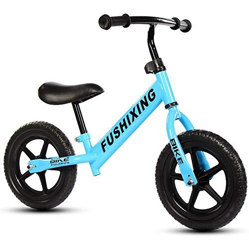 YHLZ Bicicleta de Equilibrio de los niños, la diversión de los niños/Balance de Bicicletas sin Pedal, Marco de Acero al Carbono, Ajustable Manillar, Asiento y colóquese, Capacidad 50 kg, 12