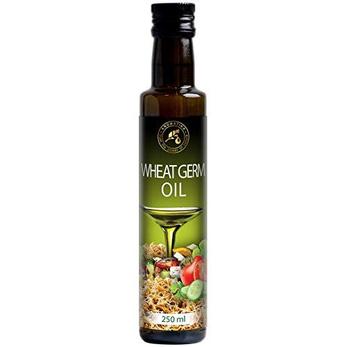 Huile de Germe de Blé Comestible Raffinée 250ml - USA - 100% Pur et Naturel pour Salade aux Feuilles Vertes - Légumes - Sauces - Desserts - Cuisson - Riche en Vitamine E