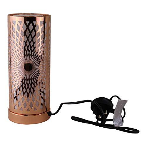 EliteKoopers 1 lámpara LED con diseño de caleidoscopio que cambia de color y difusor de aroma en oro rosa para el hogar, sala de estar, pasillo, etc.
