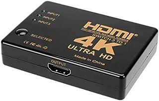 Tlaloc HDMI分配器 3入力1出力 HDMI 切替器/セレクター - 手動切り替え 電源不要 スプリッター PS4、Nintendo Switch 、XBOX ゲーム機など対応