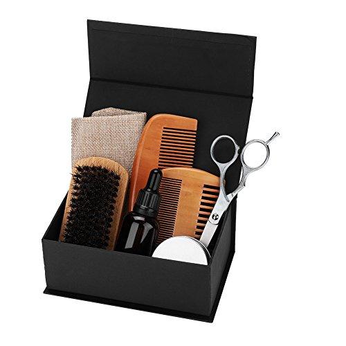 Juego para el cuidado de la barba, Naturenics Premium Beard Grooming Kit For Men Regalos de San Valentín perfectos para hombres Him Boyfriend Dad