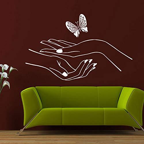 CDNY Tatuajes de Pared Vinilo Adhesivo Dormitorio Manos manicura salón de uñas Mariposa Lindo F775-in Vinilos Decorativos de Hogar & amp; Garden on AliExpress - 11.11_Double 11_Singles & # 39; Día