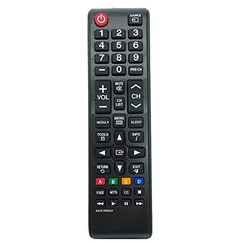 New AA59-00666A Remote Control Compatible with Samsung Plasma LED TV H32B H40B H46B PN64E533 T24E310ND LT24E310ND PN64E533D2F UN32EH4003C UN32EH4003F UN32EH4003V UN32J4000AF UN32J4000BF UN32J400DAF