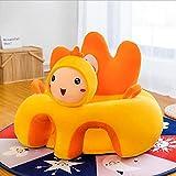 Qingsi 1 Stück Baby-Sitzbezug für Sessel, Baby-Sofa-Sitzbezug, weicher Tier-geformter Baby-Sofabezug, Lernsitz aus Plüsch, ohne Füllstoff, Stützsitz für Säuglinge, Huhn