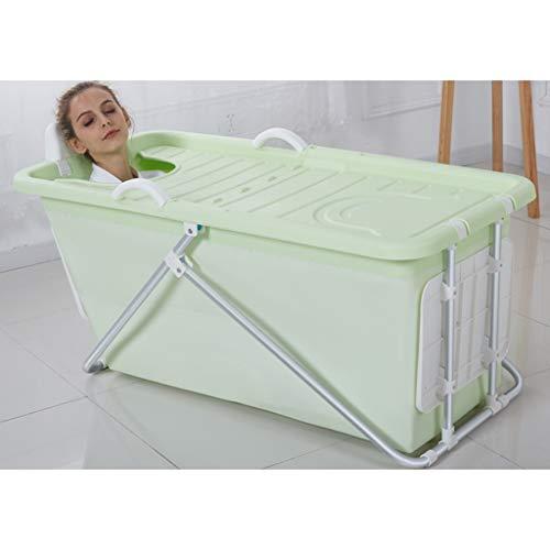Zhanyi Faltbare Kunststoffbadewanne für Erwachsene, große, komfortable Badewanne für Privatanwender, einweichende Whirlpool-Pools, Baby-Pool (Farbe : Grün)