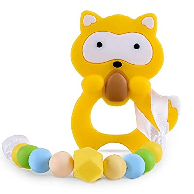 Amazon - Save 75%: Baby Teething Toys BPA Free Silicone Teether Pain Relief Toy with Pacifier Cli…