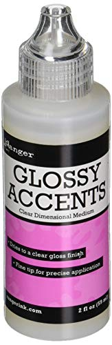 Ranger GAC17042 Glossy Accents Clear Plastic Varnish, 59 ml