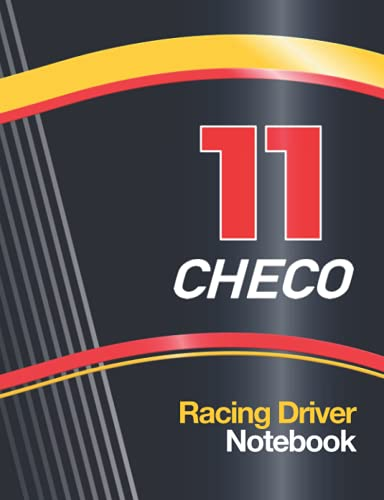 """11 Checo Racing Driver: Notebook With Racing Car Livery Cover Design 2020 with 11 Race Number, 7.5"""" x 9.6"""" Size 110 College Ruled page (55 sheet) ... Car Maintenance Schedule log, Birthday Gift"""