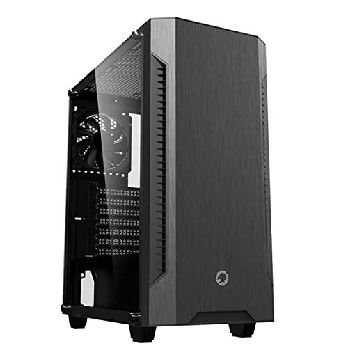 AMIAO Estuche silencioso para Juegos de PC, Soporte de Placa Base M-ATX e ITX, Transparencia Lateral de la Ventana, excelente Flujo de Aire, Espacio para 6 Ventiladores de enfriamiento