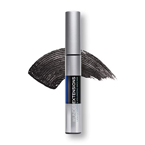 WUNDER2 WUNDEREXTENSIONS Makeup Extension- & Volumen-Mascara, natürlicher False-Lashes-Look, Wimperntusche, Black