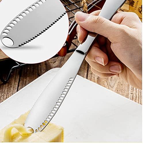 Ruluti 1pc Acero Inoxidable Mantequilla Queso Herramientas Postre Jam Separadores De Crema Cuchillos Utensilios De Cocina Cubiertos Postre para Herramientas De La Cocina