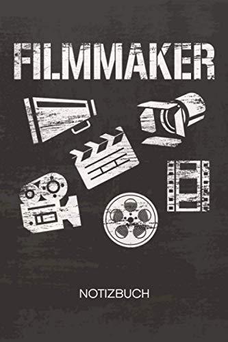 NOTIZBUCH A5 Dotted: Filmproduzent Notizheft GEPUNKTET 120 Seiten - Filme machen Notizblock Filmemacher Skizzenbuch - Filmproduzent Geschenk für Videoproduzent Videograf Kameramann