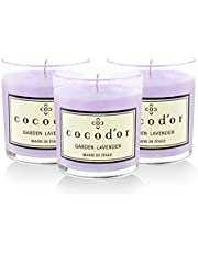 Cocodor 3-Pack Premium Jar Scented Candles in Golden Lavender
