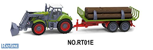 Rayline RC Traktor RT01E mit Anhänger Nutzfahrzeug Farmer Set Ideal für Kinder 27 Hz 1:28