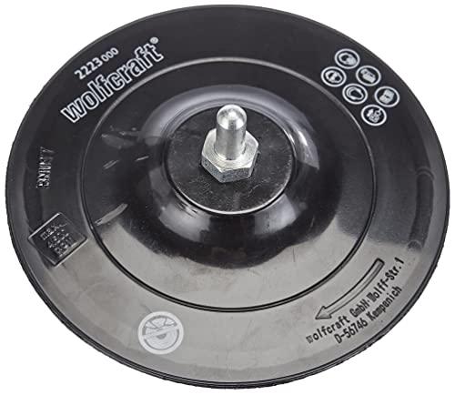 Wolfcraft 2223000 - Plato para taladro, fixoflex, vástago 8 mm Ø 125 mm