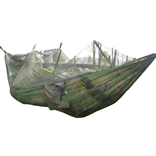 Ltong Draagbaar Klamboe Camping Hangmat Buiten Tuin Reizen Schommel Parachute Stof Hang Bed Hangmat, Camo