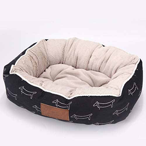 LohugoRound Kennel Pp Cotton Canvas Dog Bed, Printed, Soft And Short-Haired, Suitable For Small And Medium-Sized Dogs