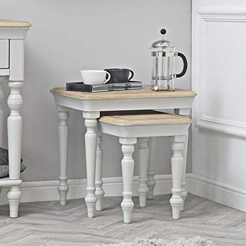 The Furniture Outlet Ashbourne Grey Painted Nest of 2 Tables