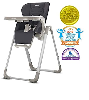 Inglesina MyTime Baby High Chair - Removable Tray, Easy-Clean Foldable High Chair - Pepper Color