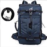 [page_title]-LAM 50L leichte Bergsteigen mit Passwortsperre wasserdicht und reißfest Camping Tasche atmungsaktiv Wandertasche Angeltasche geeignet für Männer und Frauen,Blue
