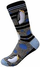 Penguin Bubbles Socks Animal Den,White/Grey/Black/Red,Women Shoe Size: 6-11 or Men Shoe Size: 5-10