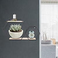 ウォールディスプレイシェルフ、ウォールシェルフ、使いやすいお手入れが簡単な書斎の寝室のリビングルーム(black)