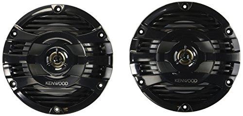 Kenwood KFC-1653MRB 6.5' Black Marine 2 Way Speakers 150 Watts