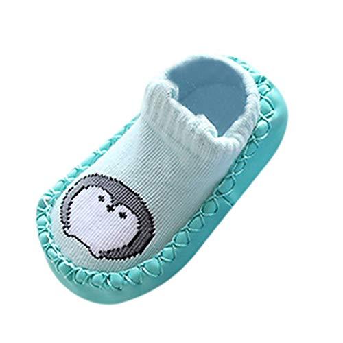 Bebe Niña Animal Zapatos, SunGren Bebé Chica Niño CalceBebéses Antideslizantes Zapatillas Zapatillas Botas First Walker Zapatos (Verde,Años:0-6M