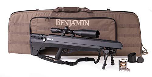 Benjamin BPBD3KA Bulldog .357 PCP Hunting Rifle With Reversible Sidelever Bolt Action, Sportsman's Packgage, Black
