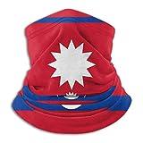 Lawenp Lavable Originality Nepal Flag Seamless Face Mask Bandanas for Dust Wind Neck Gaiter Magic Scarf, Outdoors, Festivals, Sports Black