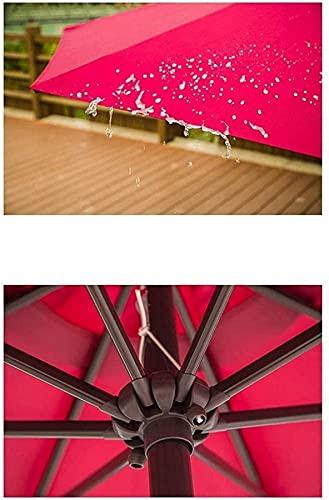 WGFGXQ Sombrilla al Aire Libre Parasol de Patio al Aire Libre Columpio de una Sola Mano Columpio Central Estable Pilar de jardín sombrilla de Sol sombrilla.