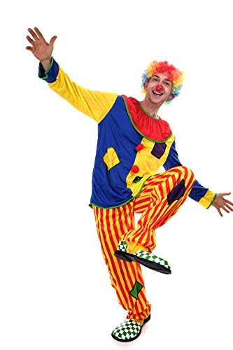 dressmeup Dress ME UP - L204/M-0044C Kostüm Clown Herren Kostüm Zirkus Kindergeburtstag Gr. S / M L204