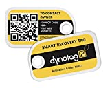 Dynotag Web Enabled Smart Mini Fashion ID Tags, with DynoIQ & Lifetime Recovery Service. 3 Identical Tags for Gear (Bumblebee)