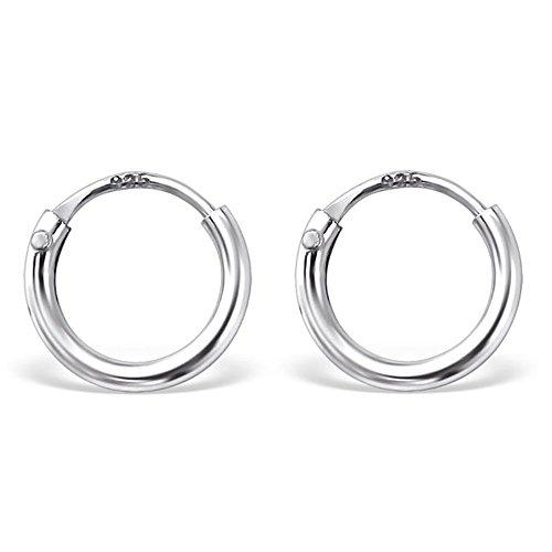Bungsa© silberne CREOLEN 925 Silber für Damen & Herren