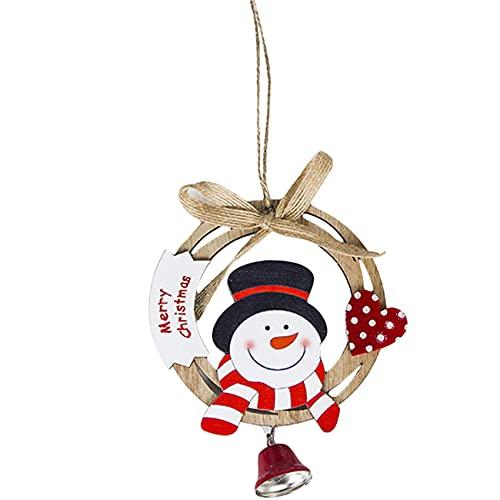 ZNMUCgs - Adorno colgante con lazo de Navidad, diseño de Papá Noel