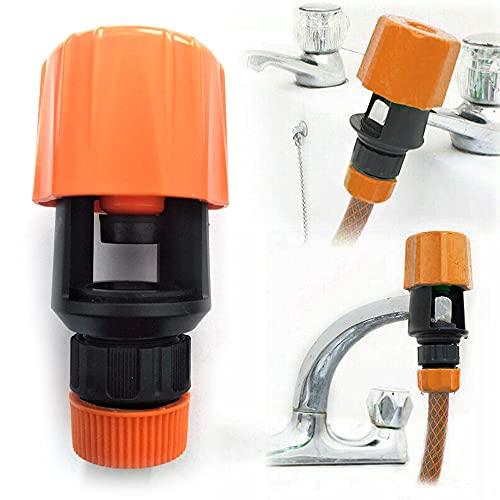 1 conector de tubería de cocina, grifo de baño a manguera, adaptador universal de grifo de agua para manguera de jardín, adaptador de cocina, ideal para interiores y exteriores