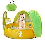HUSAN Tienda de campaña Piscina Playa bebé,Pop Up Plegable, Protección UV Playa al Aire Libre Sombrilla Carpa para bebés Piscina Interior para Juegos de Pelota