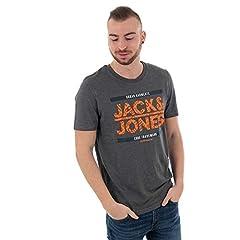 Jack & Jones Camiseta Estampada Manga Corta Hombre Gris JCONEWGERARD
