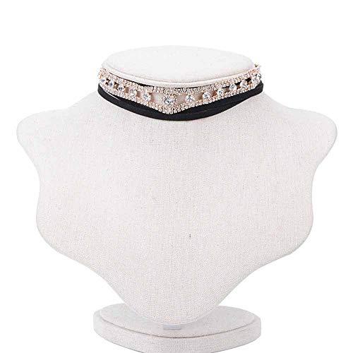 LLCX Collares del Collar, Vendimia Collar de Cuerda de Cuero Retro Exquisito Colgante Collar de la declaración del Babero, joyería del Partido (120 cm),Oro