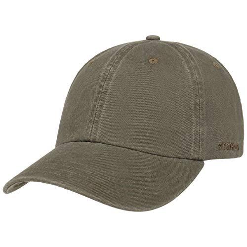 Stetson Rector Basecap - Cap für Damen/Herren - Sonnenschutz-Cap aus Baumwolle (UV-Schutz 40+) - Baumwollcap größenverstellbar (55-60 cm) - Baseballcap Sommer/Winter Oliv One Size