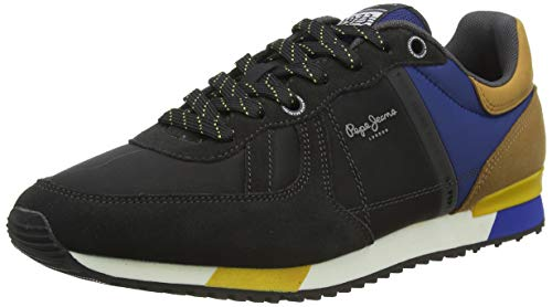Pepe Jeans London Tinker Zero Second, Zapatillas para Hombre, 982antracite, 41 EU