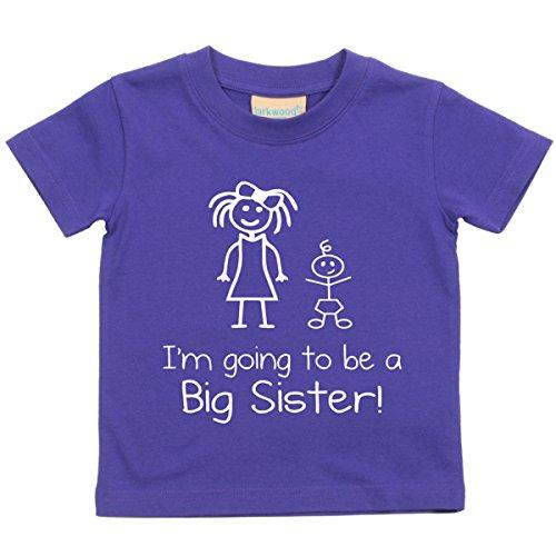 I'm Vais être Big Sister Violet T-shirt Bébé tout-petit enfants disponible en tailles 0-6 mois pour 14-15 ans nouveau bébé Sœur cadeau - Violet, 14-15 ans