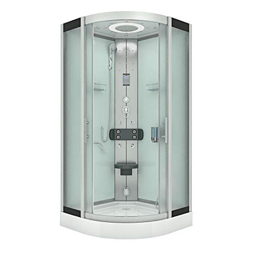 AcquaVapore DTP8058-2010 Cabina de ducha completa 100 x 100 sin disco 2K sellado