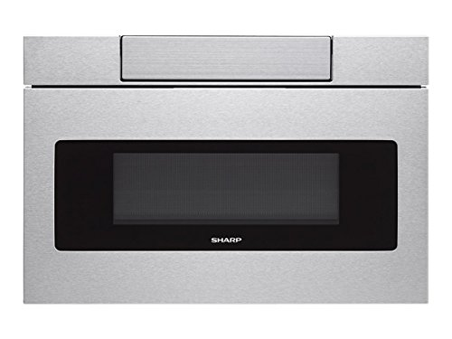 """Sharp SMD2470AH 24"""" Microwave Drawer with 1.2 cu. ft. Capacity in Black Stainless Steel"""