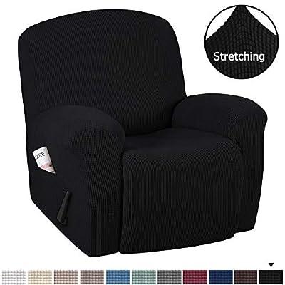 H.VERSAILTEX Stretch Recliner Slipcovers 1-Piece Durable Soft High Stretch Jacquard Sofa Furniture Cover Form Fit Stretch Stylish Recliner Cover/Protector