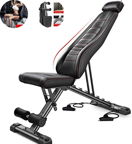 JCCOZ-URG Hantelbank, Rückenbrett, faltbares Multifunktions-Rudergerät, Fitnessgeräte, geeignet for Indoor-Fitness, tragend £ 661 URG