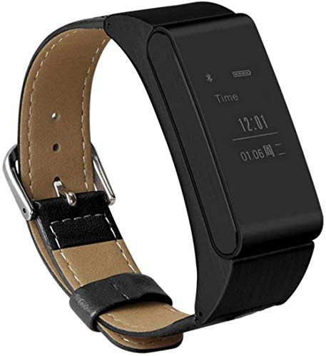 Fitness Trackers Smart Band Fitness Watch 2 en 1 Bluetooth Auricular Podómetro Monitoreo del Sueño Salud - Negro